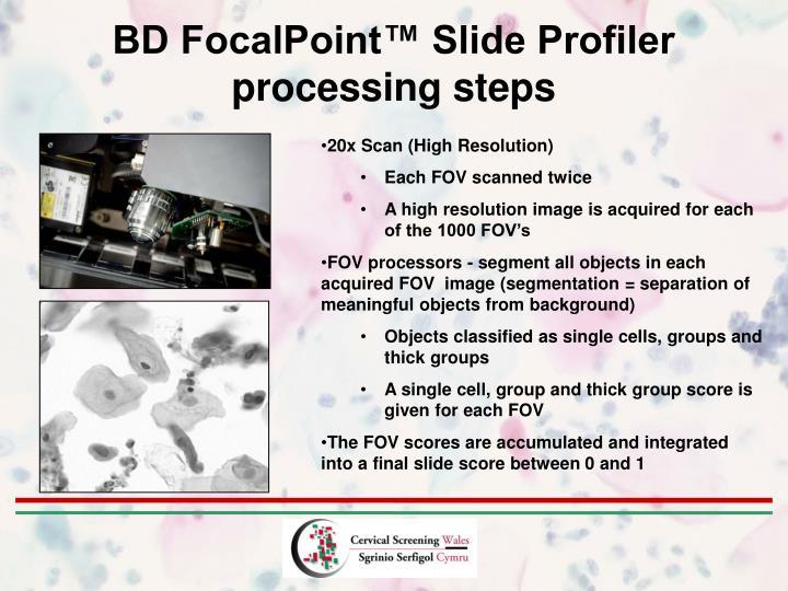 BD FocalPoint™ Slide Profiler processing steps