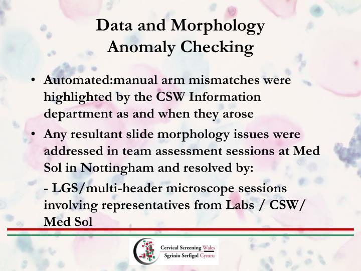 Data and Morphology