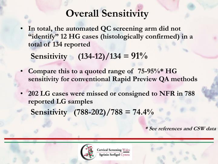 Overall Sensitivity