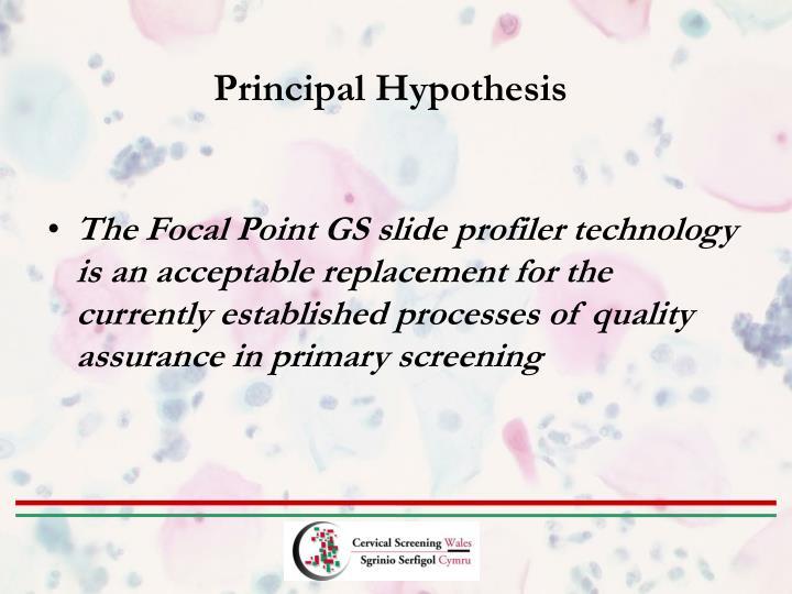 Principal Hypothesis