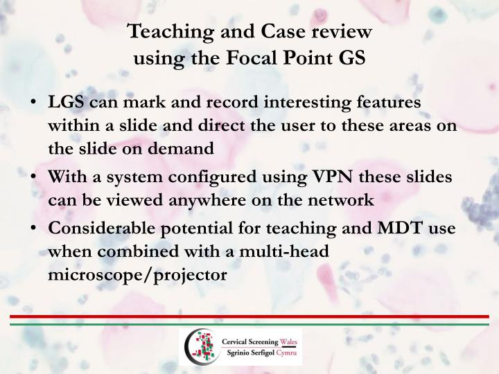 Teaching and Case review