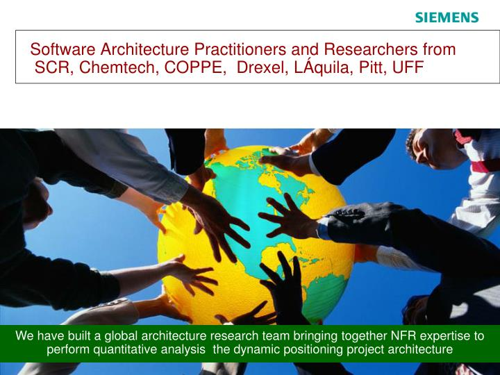 Software Architecture Practitioners and Researchers from