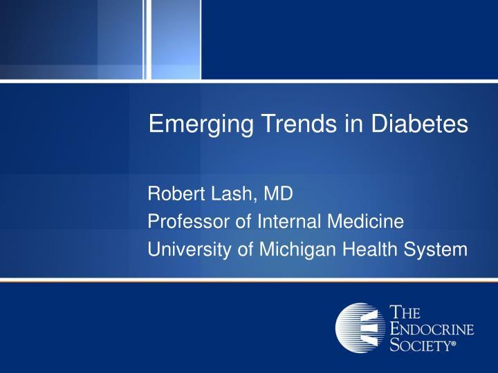 emerging trends in diabetes