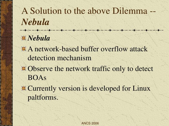 A Solution to the above Dilemma --