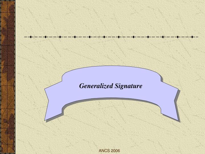 Generalized Signature