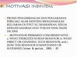 4 motivasi individu