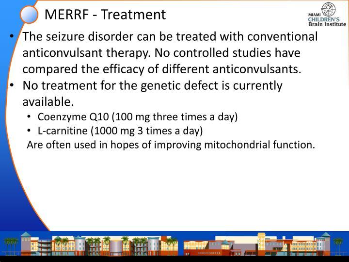 MERRF - Treatment