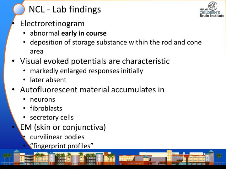 NCL - Lab findings