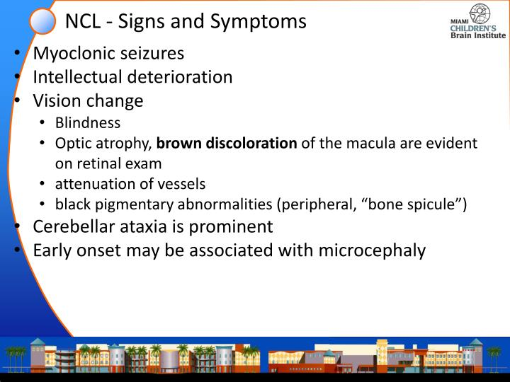 NCL - Signs and Symptoms