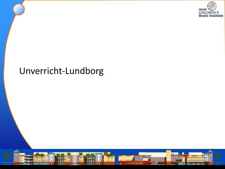 Unverricht-Lundborg
