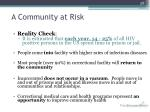 a community at risk