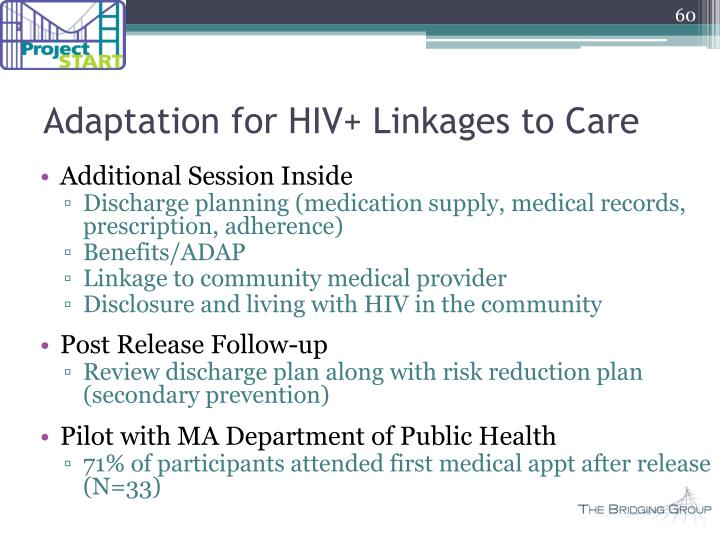 Adaptation for HIV+ Linkages to Care