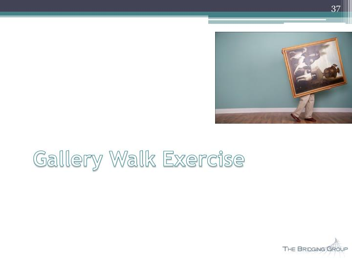 Gallery Walk Exercise