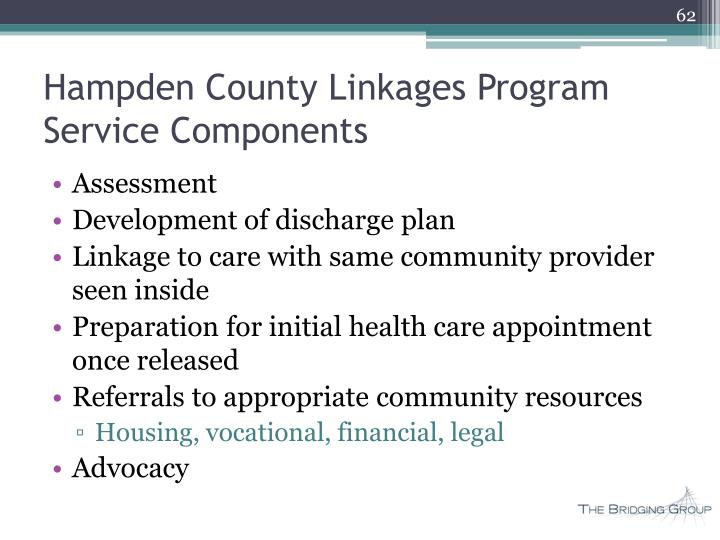 Hampden County Linkages Program Service Components