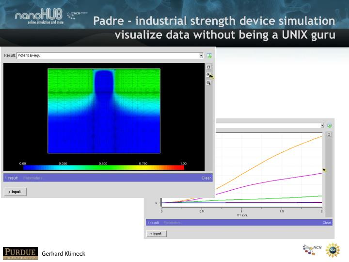 Padre - industrial strength device simulation
