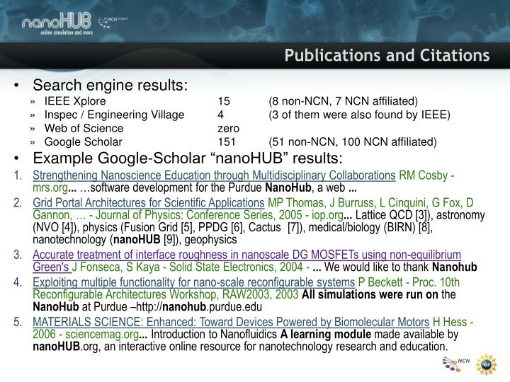 Publications and Citations