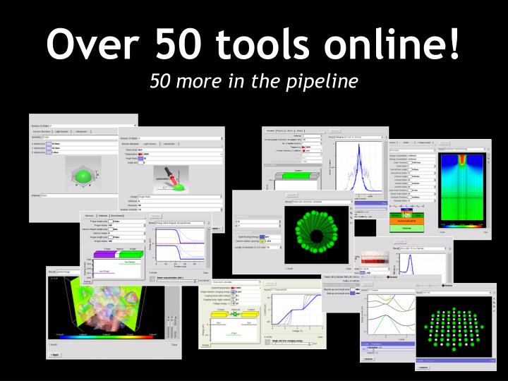 Over 50 tools online!