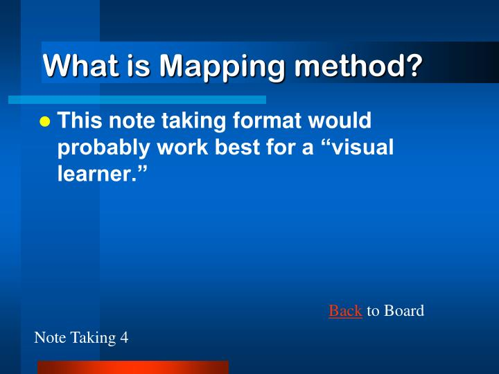 What is Mapping method?