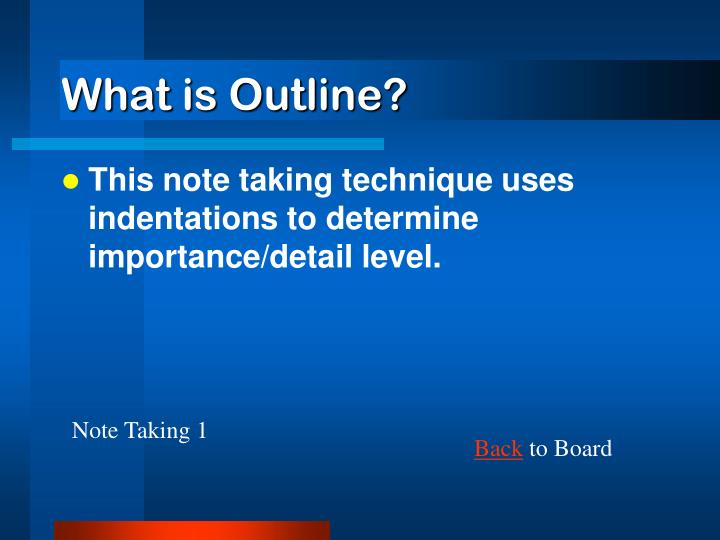 What is Outline?