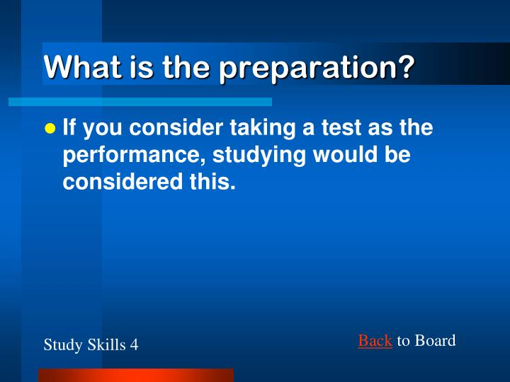 What is the preparation?