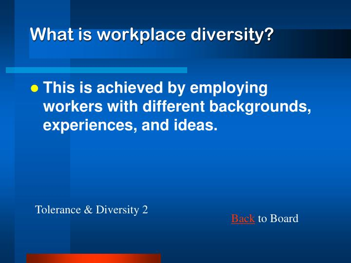 What is workplace diversity?