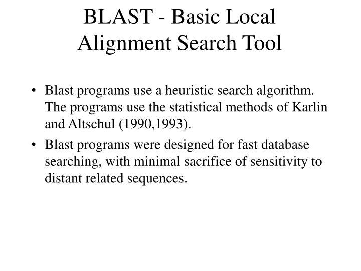 BLAST - Basic Local Alignment Search Tool