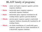 blast family of programs