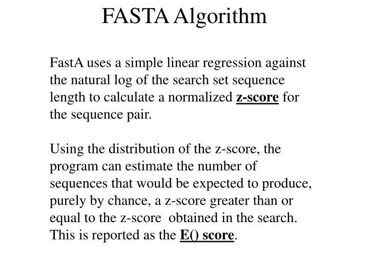 FASTA Algorithm