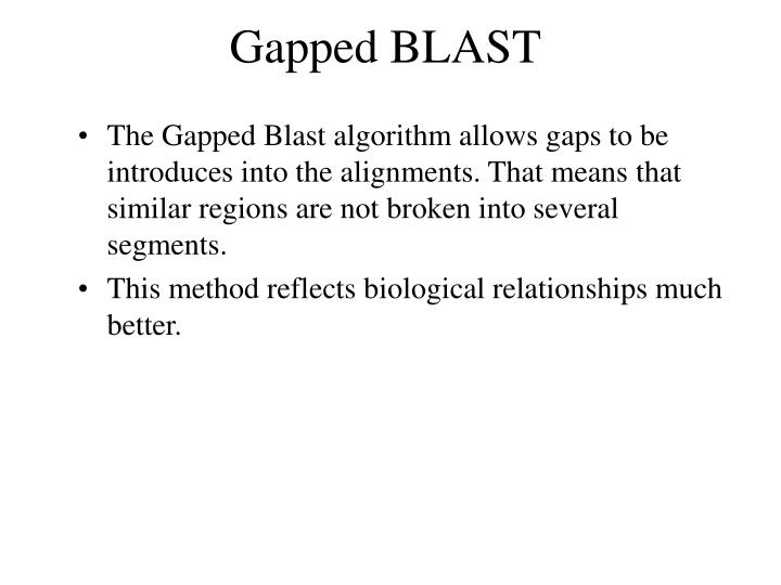 Gapped BLAST