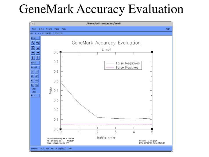 GeneMark Accuracy Evaluation