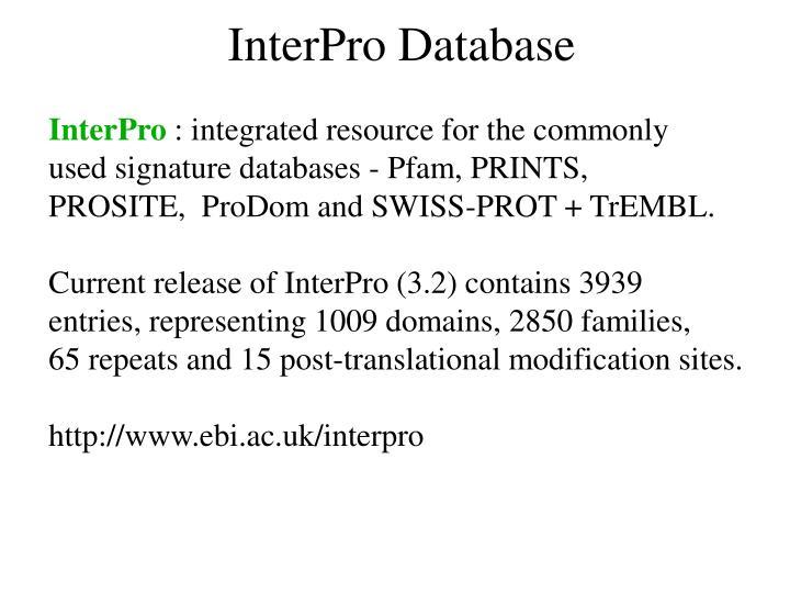 InterPro Database