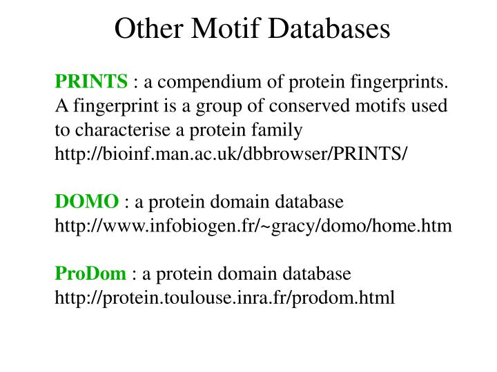 Other Motif Databases