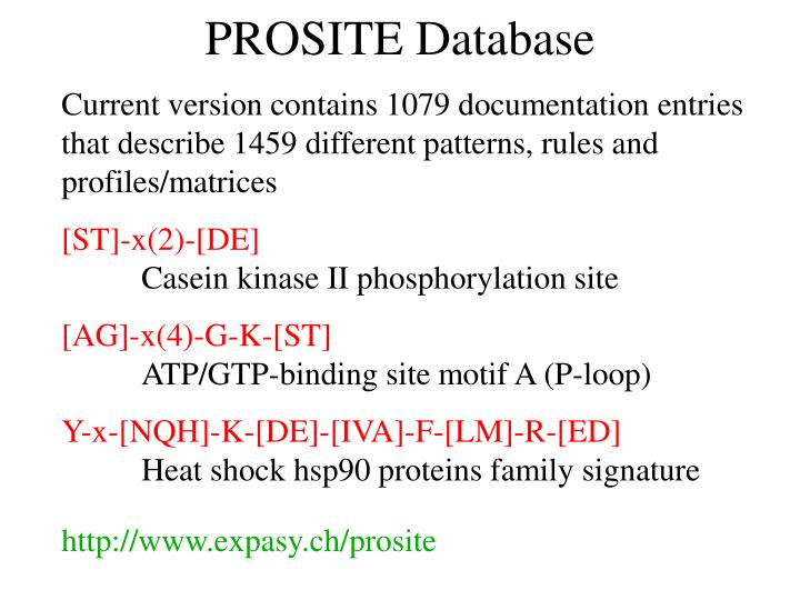PROSITE Database