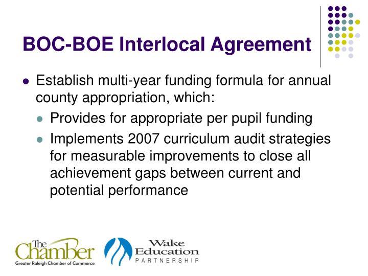 BOC-BOE Interlocal Agreement