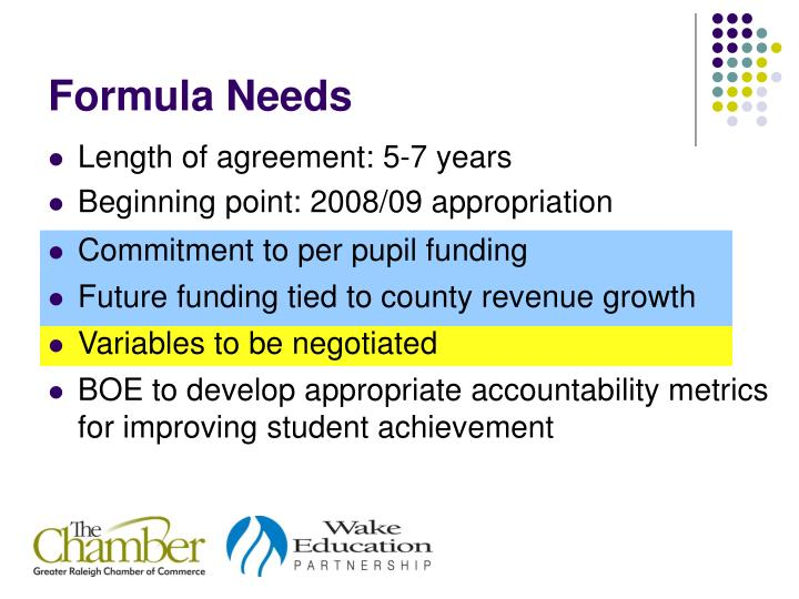 Commitment to per pupil funding