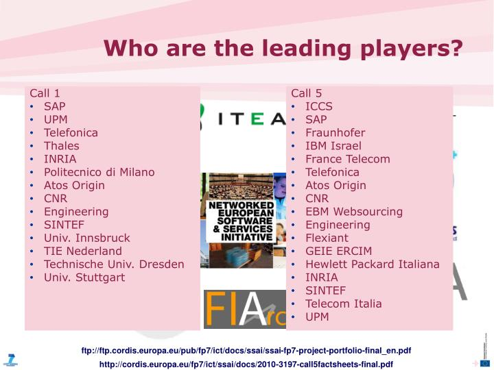 Who are the leading players?