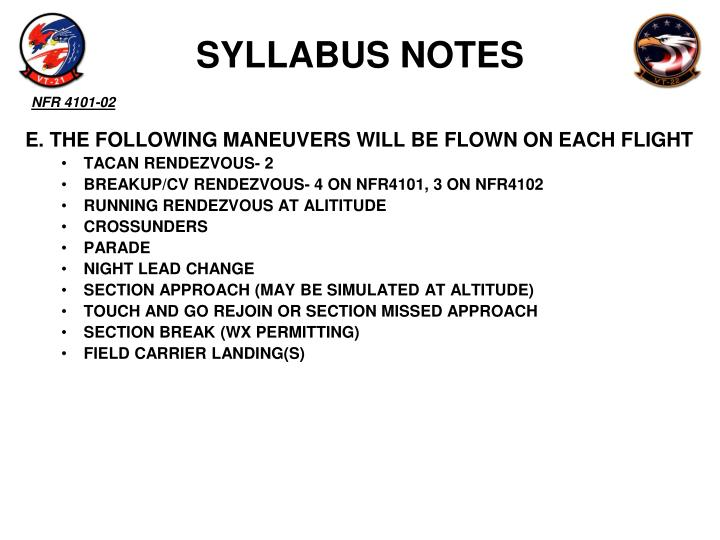 SYLLABUS NOTES