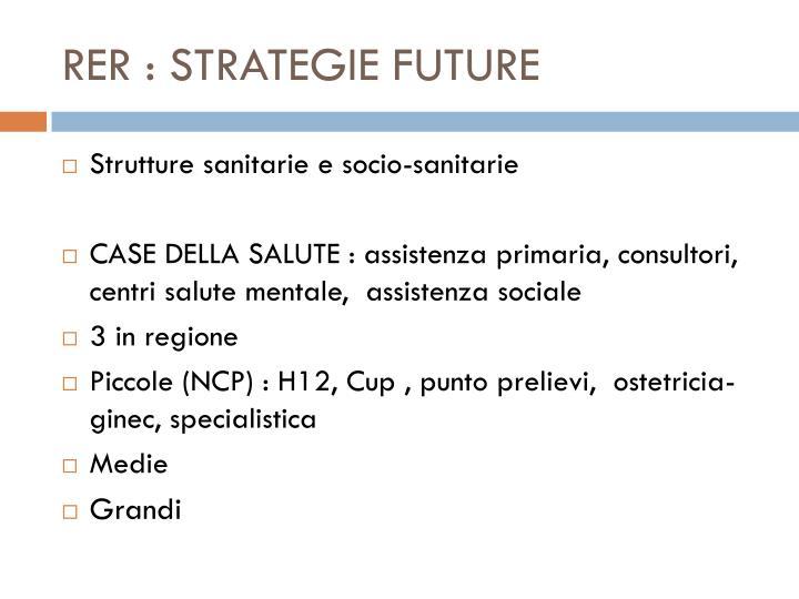 RER : STRATEGIE FUTURE
