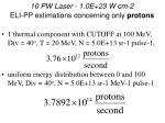 10 pw laser 1 0e 23 w cm 2 eli pp estimations concerning only protons