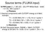 source terms fluka input1