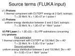source terms fluka input2