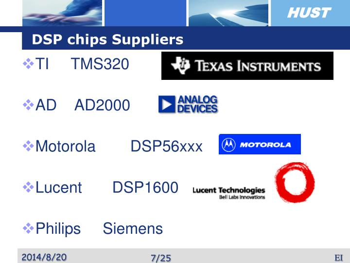 DSP chips Suppliers