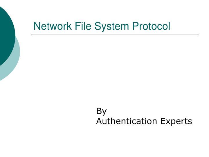 network file system protocol