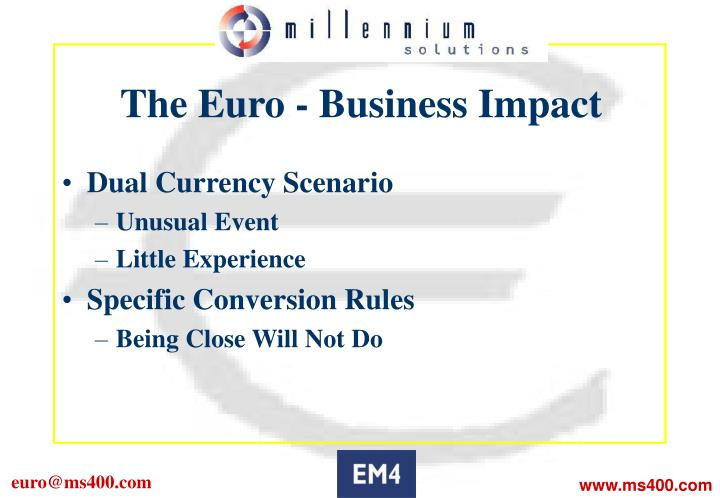 The Euro - Business Impact