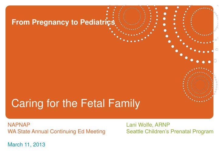 from pregnancy to pediatrics