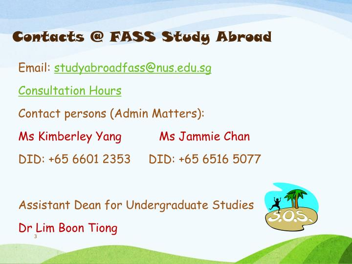 Contacts @ fass study abroad
