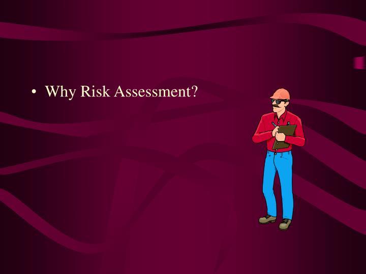 Why Risk Assessment?