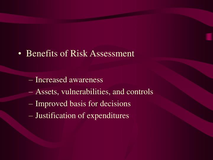 Benefits of Risk Assessment