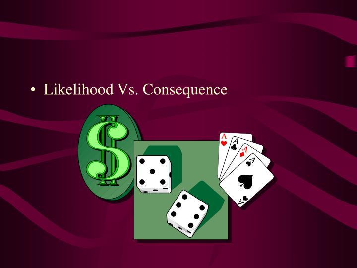 Likelihood Vs. Consequence