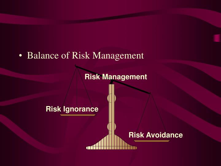 Balance of Risk Management